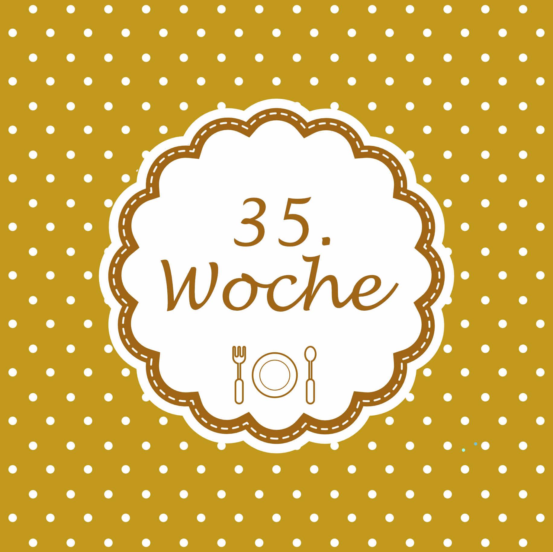 35. Woche Meilenstein Schwangerschaft Instagram